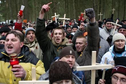 Protest mieszkańców Augustowa / Kliknij /AFP