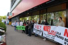 Protest mieszkańców małopolskiej Alwerni