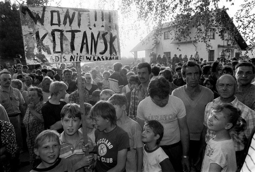 Protest mieszkańców przeciwko budowie ośrodka Monar /Jacek Domiński /Reporter