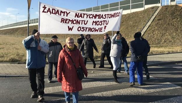 Protest mieszkańców Wierzchosławic /Marek Wiosło /RMF FM