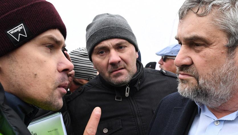 Protest na A2. Na miejsce przyjechał minister rolnictwa