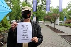 Protest na Uniwersytecie Pedagogicznym w Krakowie