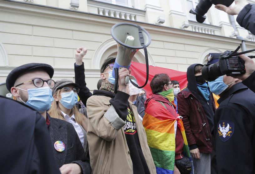 Protest na Uniwersytecie Warszawskim /Beata Zawadzka /East News