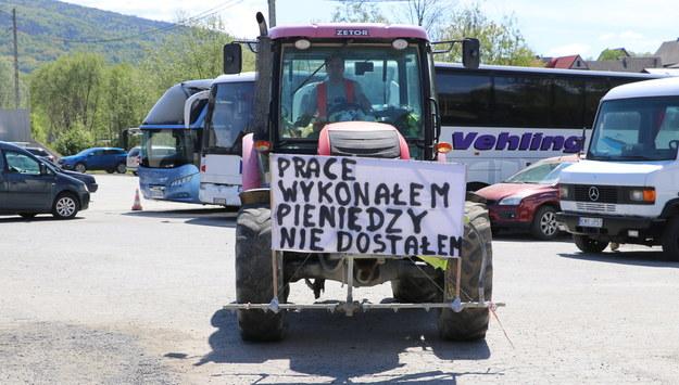 Protest na zakopiance /Józef Polewka /RMF FM