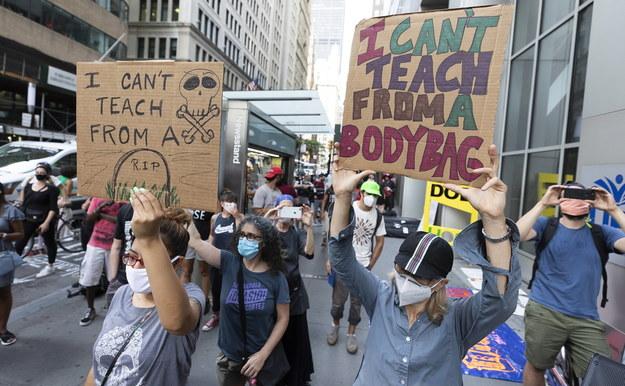 Protest nauczycieli /JUSTIN LANE /PAP/EPA