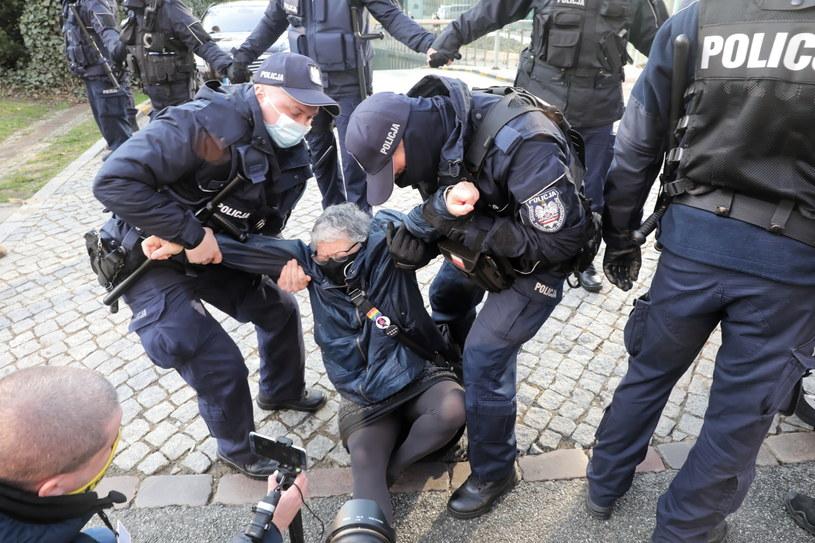 Protest Obywateli RP przed SN / Tomasz Gzell    /PAP