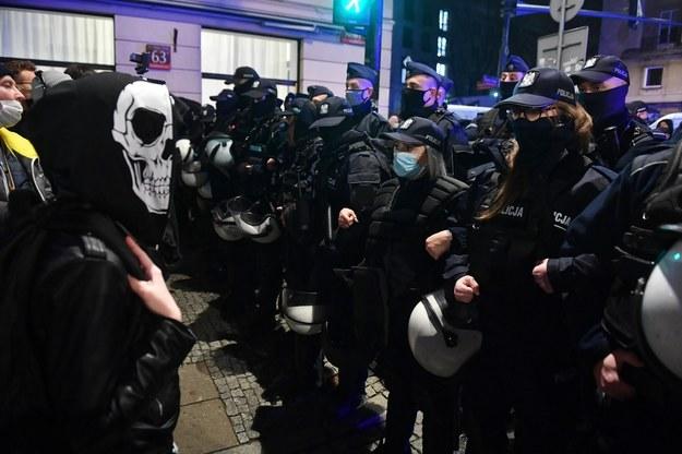 Protest Ogólnopolskiego Strajku Kobiet w Warszawie, 18 listopada 2020 / Radek Pietruszka   /PAP