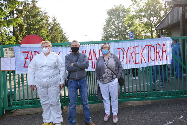 Protest personelu Domu Pomocy Społecznej w Kaliszu. /Tomasz Wojtasik /PAP/Photoshot