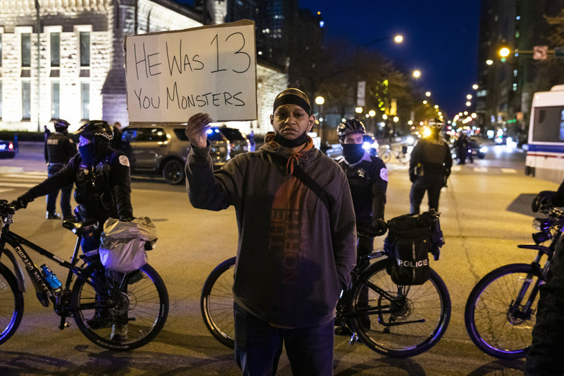 Protest po zastrzeleniu 13-latka w Chicago /Chicago Sun-Times/Associated Press/East News /East News