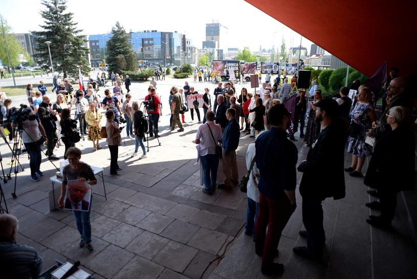"Protest pod hasłem ""Stop Chazanowi"" /Piotr Polak /PAP"