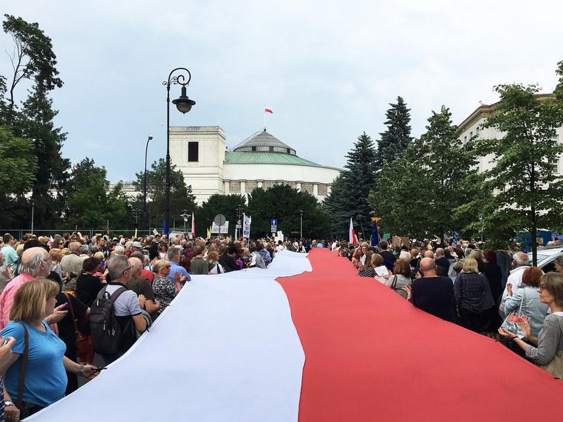 Protest pod Sejmem /Wojtek Laski /East News