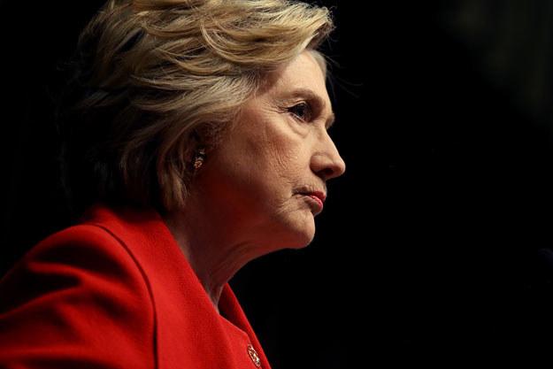 Protest Polonii ma związek z wypowiedzią Billa Clintona (na zdjęciu Hilary Clinton) /AFP