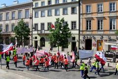 Protest pracowników firm śmieciarskich