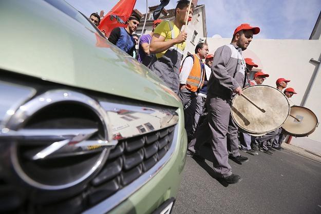 Protest pracowników Opla w Ruesselheim /EPA