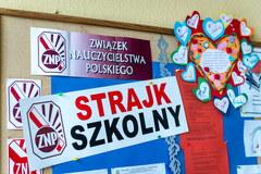 Protest pracowników oświaty