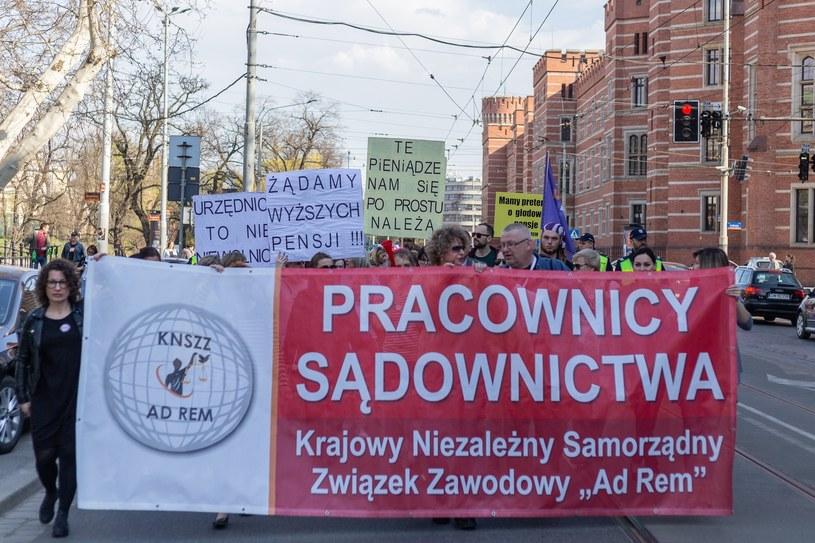 Protest pracowników sądów i prokuratur /Krzysztof Kaniewski /Reporter