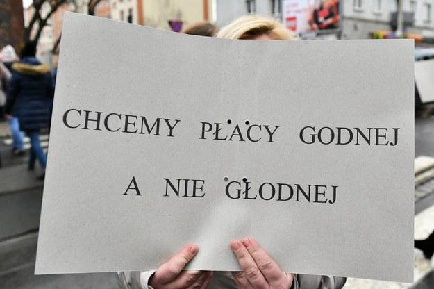 Protest pracowników Sądu Okręgowego, wrocławskich sądów rejonowych oraz sędziów /Maciej Kulczyński /PAP