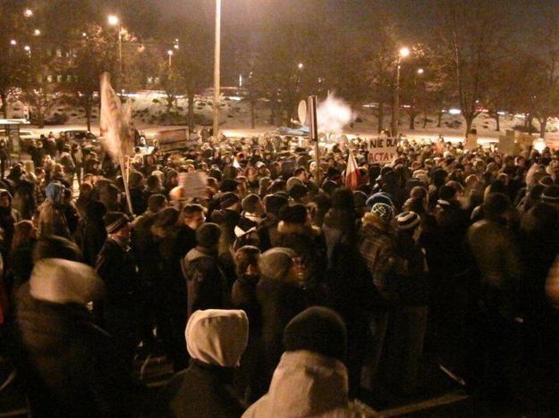 Protest przeciwko ACTA w Gdańsku / fot. D. Proniewicz /RMF