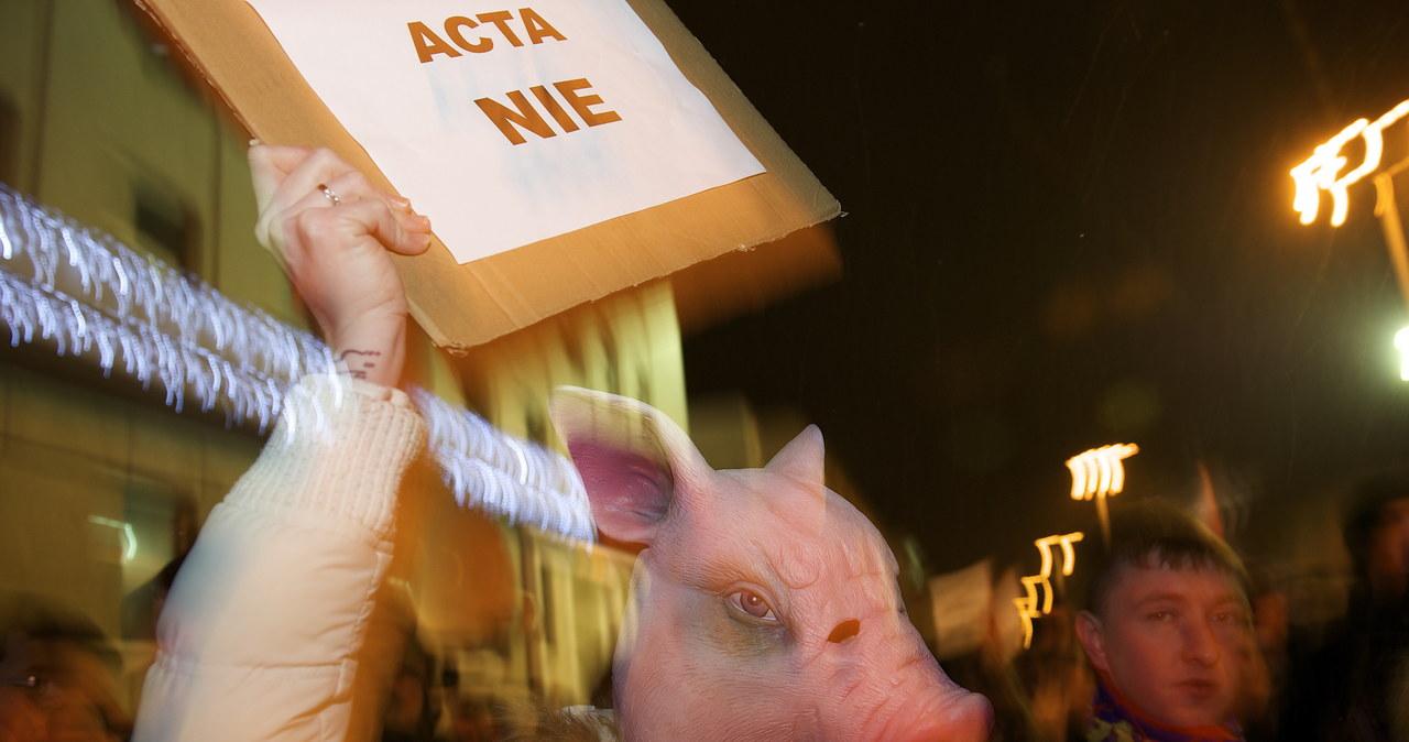 Protest przeciwko ACTA w Trójmieście