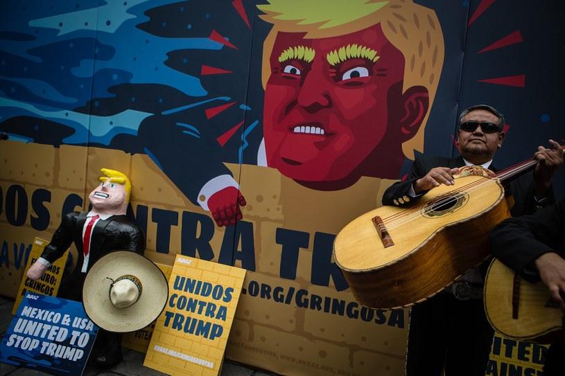 Protest przeciwko Donaldowi Trumpowi w stolicy Meksyku, wrzesień 2015 /Getty Images