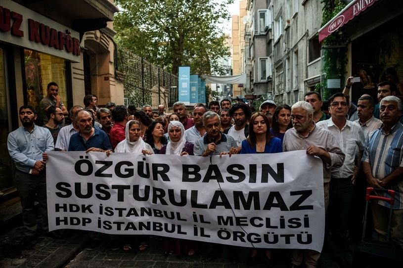 Protest przeciwko działaniom tureckich władz /AFP