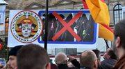 Protest przeciwko imigrantom. Szubienica dla kanclerz Merkel