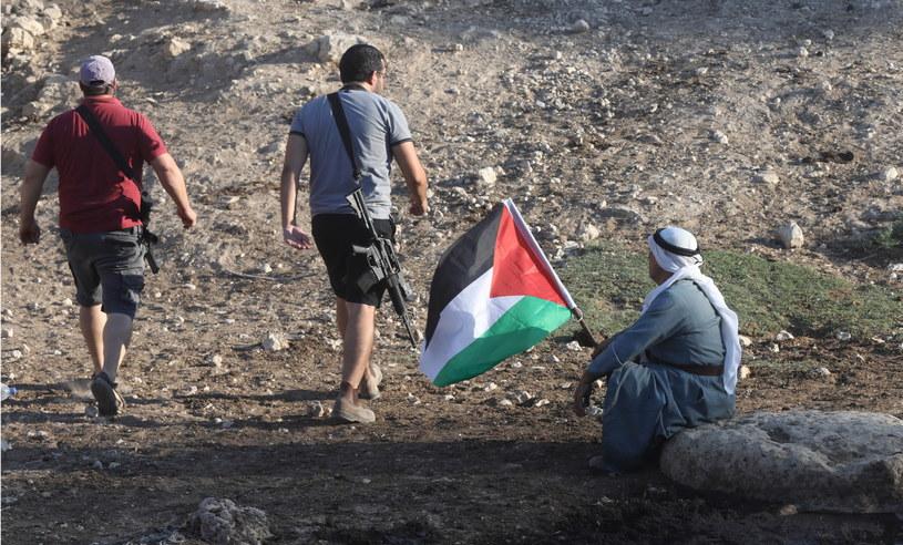 Protest przeciwko izraelskim osiedlom w rejonie Ajn al-Helwa w dolinie Jordanu/Zdj. ilustracyjne /ALAA BADARNEH  /PAP/EPA