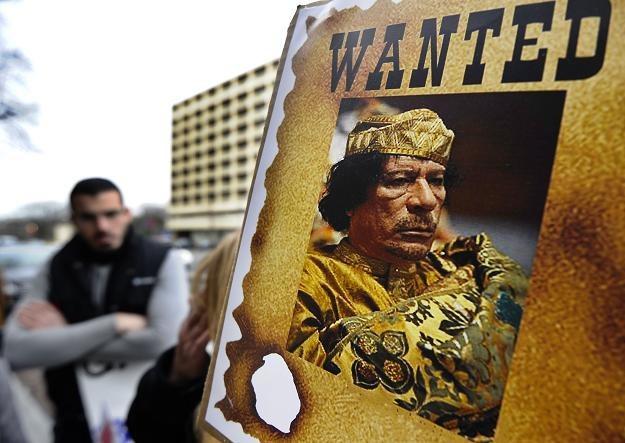 Protest przeciwko Muammarowi Kaddafiemu w USA /AFP