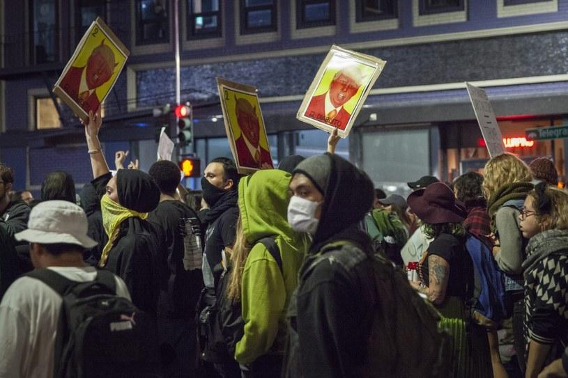 Protest przeciwko prezydenturze Trumpa /PAP/EPA