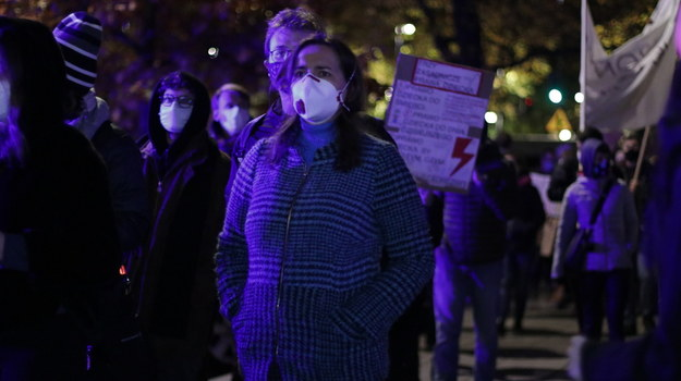 Protest przeciwko Przemysławowi Czarnkowi przed siedzibą MEN /Jakub Rutka /RMF FM