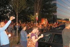 Protest przeciwko reformie sądownictwa w Krakowie