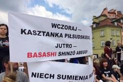 Protest przeciwko sprzedaży polskich koni na rzeź