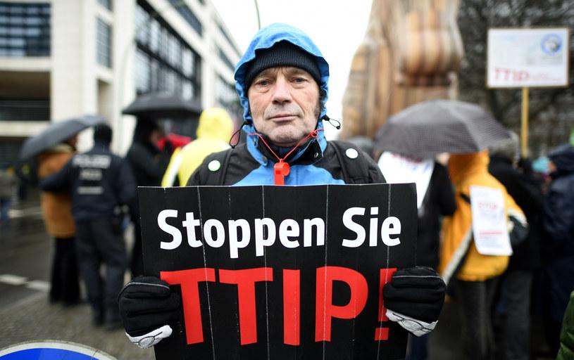 Protest przeciwko TTIP w Berlinie /AFP