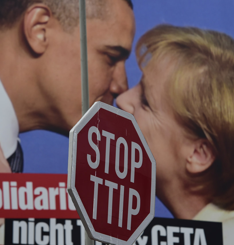 Protest przeciwko umowie TTIP /AFP