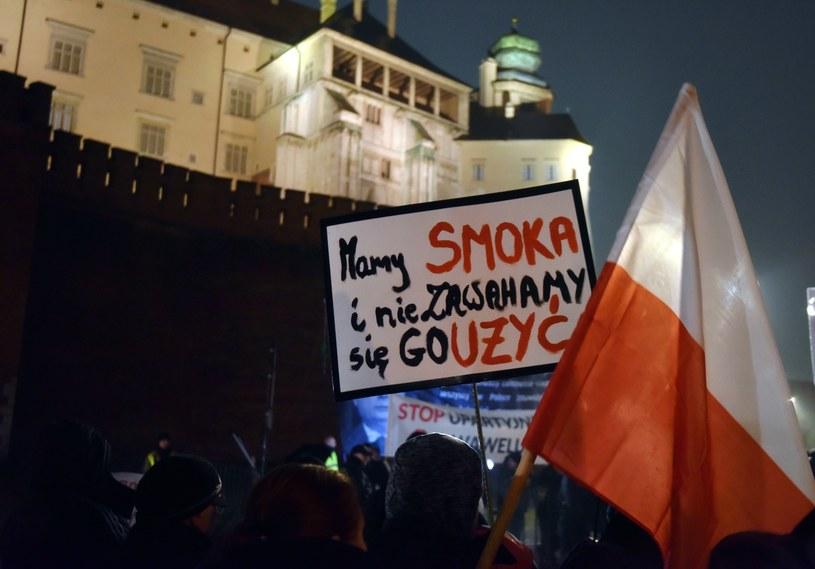 Protest przeciwko upartyjnieniu Wawelu /Artur Barbarowski /East News