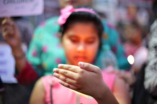 Protest przeciwko wykorzystywaniu seksualnym kobiet na zdjęciu ilustracyjnym /PIYAL ADHIKARY    /PAP/EPA