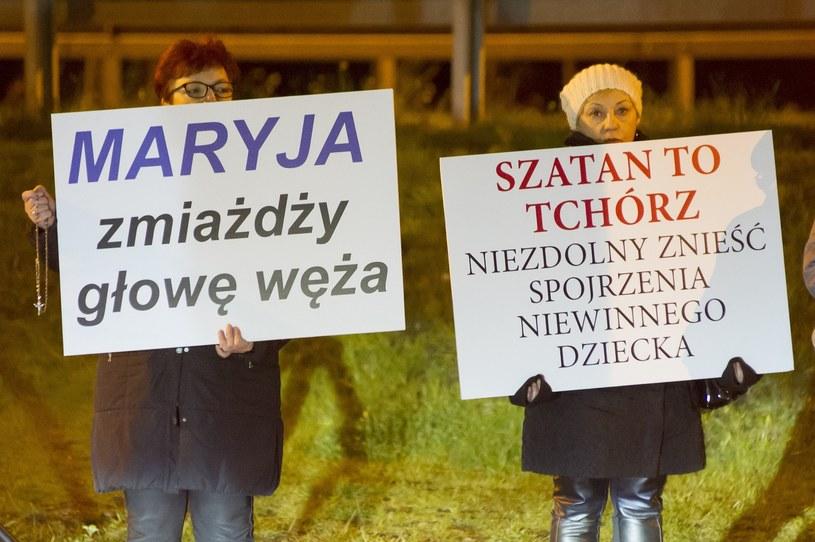 Protest przed koncertem zespołu Behemoth w Gdańsku /Wojciech Stróżyk /Reporter   /Reporter