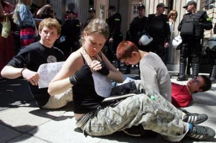 Protest przed MEN zorganizowany przez Inicjatywę Uczniowską; fot. Adam Nocoń /Agencja SE/East News