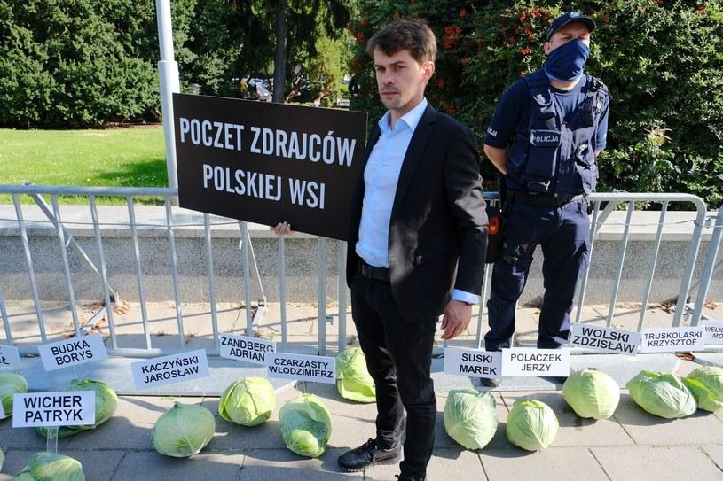 Protest przed Sejmem /Mateusz Marek /PAP