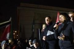 Protest przed siedzibą PKW