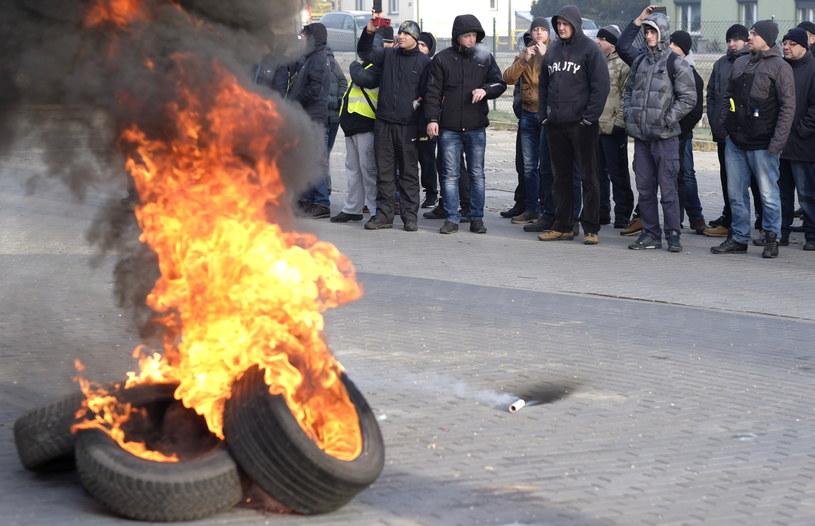 Protest przed siedzibą Spółki Restrukturyzacji Kopalń /Andrzej Grygiel /PAP