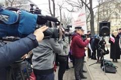 Protest przed Trybunałem Konstytucyjnym