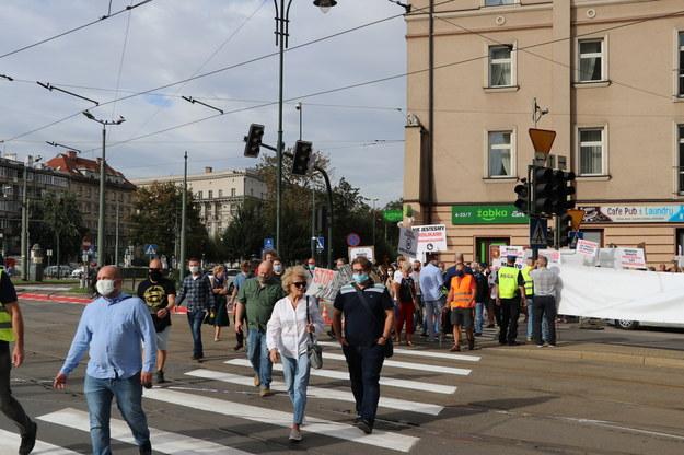 Protest przedsiębiorców na Kazimierzu /Józef Polewka /RMF FM