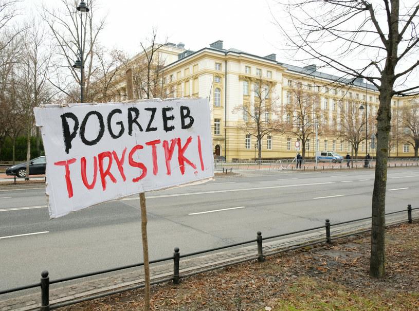 Protest przedsiębiorców z Warmii i Mazur /Piotr Molecki /East News
