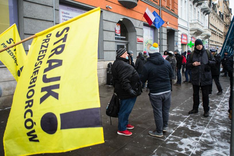 Protest przedsiębiorców /Adam Burakowski /Reporter