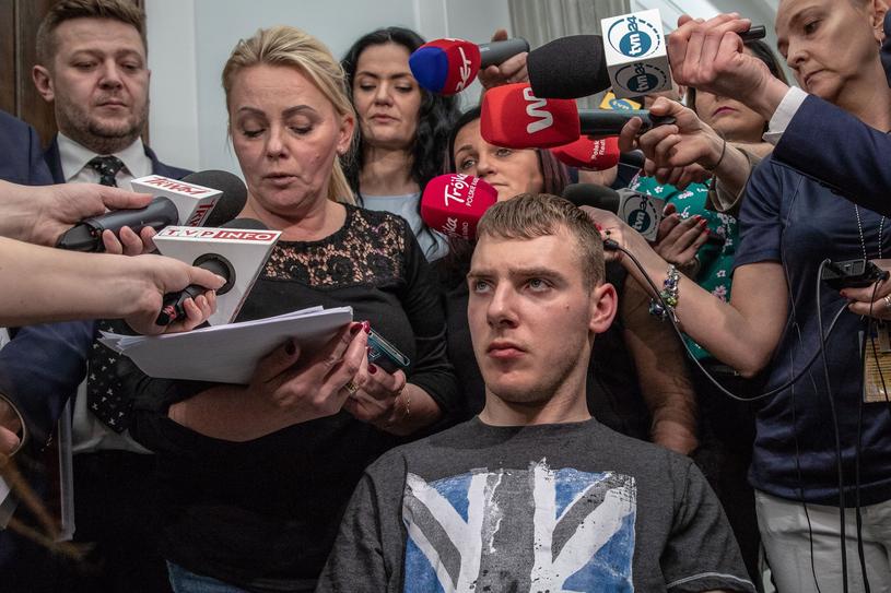 Protest rodziców osób niepełnosprawnych /Grzegorz Banaszak /Reporter