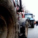 """Protest rolników na krajowej """"12"""": Przez kilka godzin blokowali trasę"""