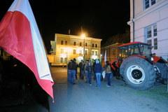 Protest rolników przed Urzędem Wojewódzkim w Bydgoszczy