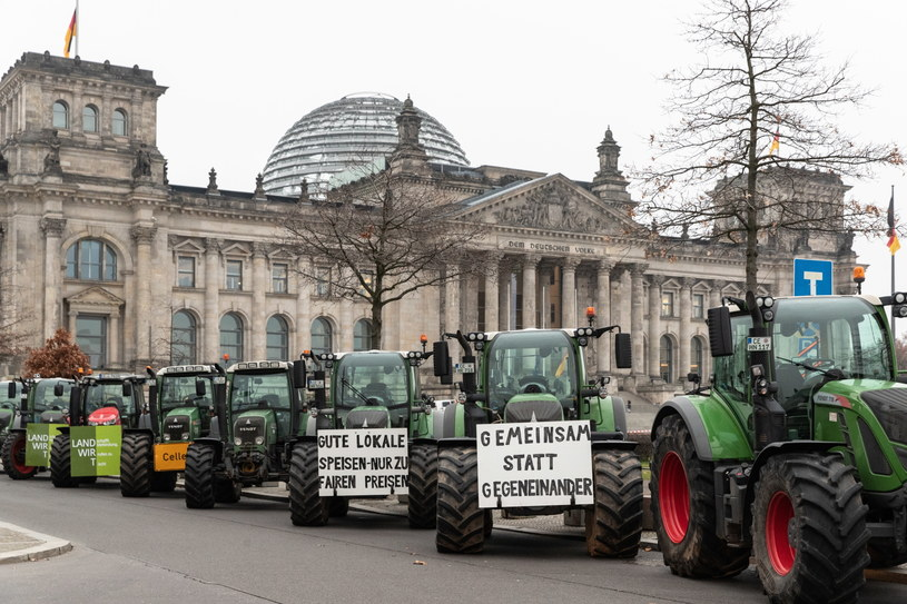 Protest rolników w Berlinie /HAYOUNG JEON /PAP/EPA