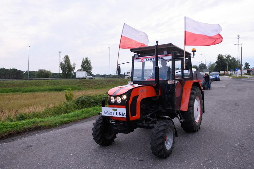 Protest rolników w Nowym Mieście nad Wartą /Jakub Kaczmarczyk   /PAP